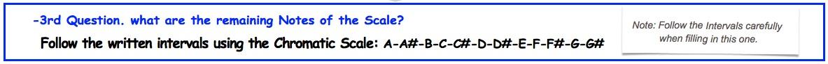 3 Chromatic Scale