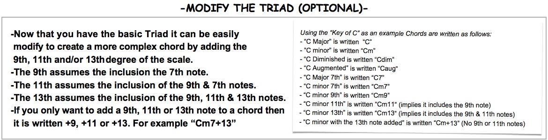 Modify The TRIAD